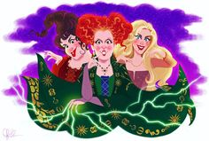 Hocus Pocus When you buy this new Hocus Pocus print ($25), you will get any other print of your choice FREE!!! email me at dylanbonnerart@gmail.com for your prints!