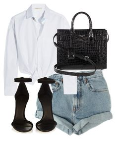 """Untitled #4159"" by theeuropeancloset on Polyvore featuring Levi's, Maje, Isabel Marant and Yves Saint Laurent"