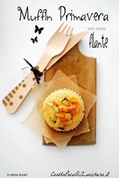 muffin senza burro alle verdure con cuore di mozzarella