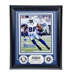NFL Dallas Cowboys #88 Dez Bryant Autograph Silver Coin Photo Mint at shop.dallascowboys.com.