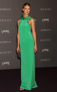 Perfect Palette: Week of November 5, 2012.   WHO: Rosie Huntington-Whiteley  WHAT: Gucci  WHERE: LACMA Second Annual Art + Film Gala  WHEN: October 27, 2012