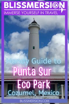 Punta Sur Cozumel is an awesome place to visit while you are in Cozumel, Mexico (with or without kids). Here's what to expect from your visit of the Punta Sur Eco Park! Includes tips for those with children and babies. #cozumel #mexico #puntasur