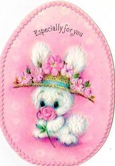 Easter card bunny