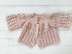 Crochet Cardigan - Size 2/3
