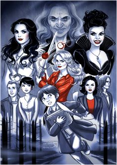 (Once Upon a Time by *daekazu on deviantART) Nice art, but WHY does Rumple look like a woman??? Bothers me a lot! Lol