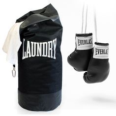 Big enough to hold a heavyweight load of washing & tough enough to take a beating. Rocky trained by punching frozen beef, now you can use your dirty laundry for your work out