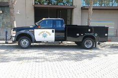 California Highway Patrol CHP Ford F250 Old Police Cars, Police Truck, Ford Police, Police Station, State Police, Police Vehicles, Emergency Vehicles, Military Vehicles, Texas Department