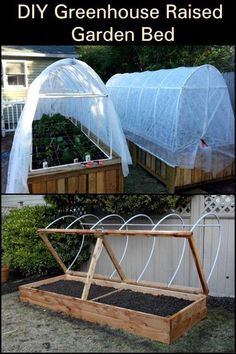 Building A Raised Garden, Raised Garden Beds, Raised Beds, Small Greenhouse, Greenhouse Plans, Porch Greenhouse, Greenhouse Wedding, Portable Greenhouse, Pallet Greenhouse