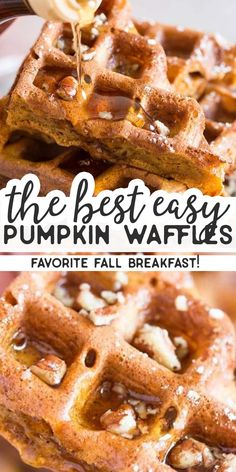 Nov 19 These simple homemade pumpkin waffles definitely need to happen in your waffle maker this autumn! The reci. Fall Breakfast, Savory Breakfast, Breakfast Bake, Breakfast Items, Best Breakfast Recipes, Brunch Recipes, Brunch Ideas, Dinner Recipes, Pumpkin Recipes