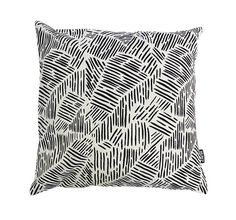 Lines in Black Throw cushion via @Etsy