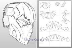 Starting my pepakura deathstroke helmet Stage 1:Download pepakura Viewer.It is free but you can buy a better version pepakura designer but that costs.I use pepakura viewer.Then print the shape templates out.