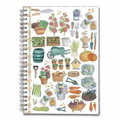Notesbog med spiralryg indeholder cirka 80 sider. #spb #notesbog #noter #havearbejde #kolonihave