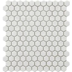"EliteTile Retro .875"" x .875"" Porcelain Glazed Mosaic in White"