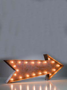Vintage Marquee Lights arrow. Full speed ahead
