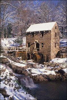 Old Mill, North Little Rock Snow Fall