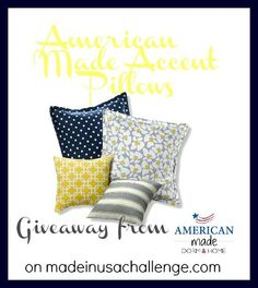 American Made Dorm and Home Pillow Giveaway on Made in USA Challenge