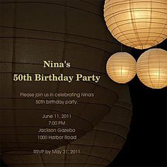 Great Looking Online Birthday Invitations You Can Send for Free: Lights by Pingg