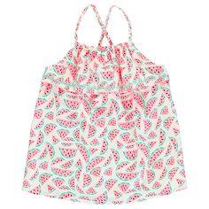 Girls' Watermelon Frill Top