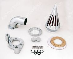 Sale Motorcycle Moto Cone Spike Air Cleaner Intake Filter with Adapters CNC Aluminum Kit For Harley Davidson XL models sportstar