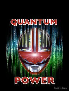 'Quantum Power' T-Shirt by CreativeSpero Power Rangers Shows, Power Rangers Time Force, Go Go Power Rangers, Forever Red, Wall Papers, Nerd Stuff, Bullshit, Me Me Me Anime, Tshirt Colors