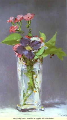 Edouard Manet. Clematis in a Crystal Vase.