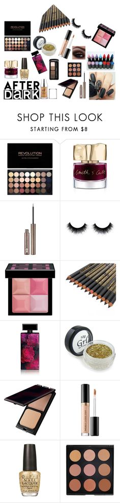 """dark beauty"" by asoles2011 ❤ liked on Polyvore featuring beauty, Smith & Cult, Urban Decay, Givenchy, Hard Candy, Elizabeth Arden, Serge Lutens, Too Faced Cosmetics, OPI and Morphe"