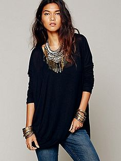 Free People Drip To The Hip Tee at Free People Clothing Boutique