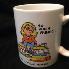 In Stitches Mug McCall Pattern Co. Sewing So Much Fabric Craft Humor Coffee Cup