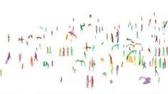 Kyrielle (2011), Boris Labbé. Video installation in loop. Watercolor on paper, 285 originals drawings 42 x 30 cm. Composition on computer. EMCA Ecole des Métiers du Cinéma d'Animation (Angoulême, Francia)