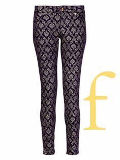 #FallFashion F: Fancy Pants in brocade fabric