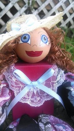 Potpourri Doll Southern Belle Hand Painted Hand by MTDesignsCrafts, $16.00