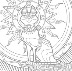 Drawings to color Cat Coloring Page, Animal Coloring Pages, Coloring Book Pages, Printable Coloring Pages, Adult Coloring, Native Indian, Native American Indians, Free Prints, Pictures To Draw