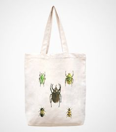 insects --canvas tote bag/Tote bag/Diaper bag/Shopping bag/Market bag/Document bag/Carryall bag/women bag/women to