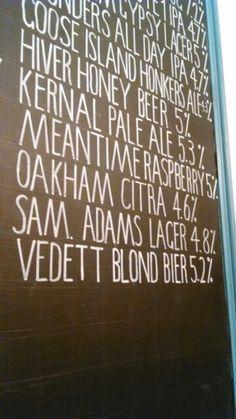 Craft beer list #tonyaaaagh #signwritting