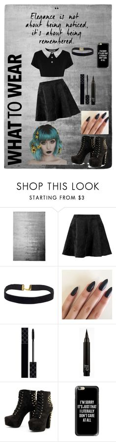 """""""Back in black"""" by bonnhie ❤ liked on Polyvore featuring Designers Guild, Boohoo, Gucci and Casetify"""