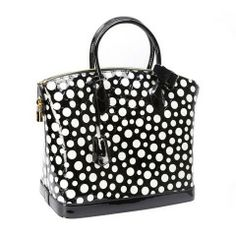 Yayoi Kusama for Louis Vuitton Black and White Polka Dot Purse NIB