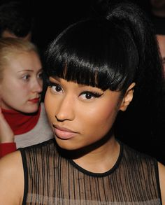 Nicki Minaj Photos - Nicki Minaj attends the Alexander Wang Fashion Show during Mercedes-Benz Fashion Week Fall 2015 at Pier 94 on February 14, 2015 in New York City. - Alexander Wang - Front Row - Mercedes-Benz Fashion Week Fall 2015