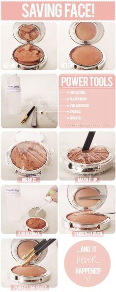 how-to-fix-broken-makeup-compact-eyeshadow-powder