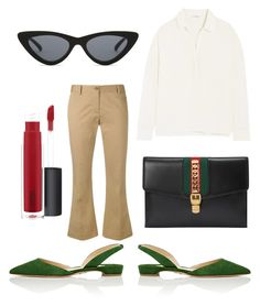 Untitled #25 by theaclemetsen on Polyvore featuring polyvore, fashion, style, James Perse, Alberto Biani, Paul Andrew, Gucci, Le Specs, John Lewis and clothing