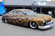 """Custom hot rods, or lead sleds, were so named because of the lead-filled body putty used to make modifications.  Cars were """"chopped"""" and lowered for a sleek look."""