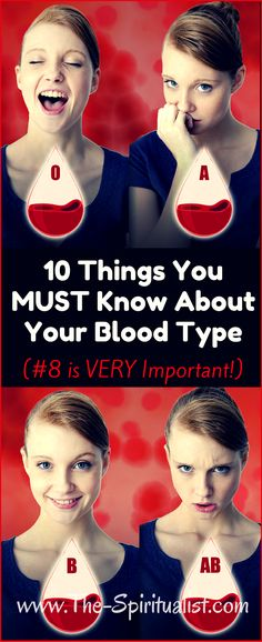Health tips - Learn 10 things about your blood type.