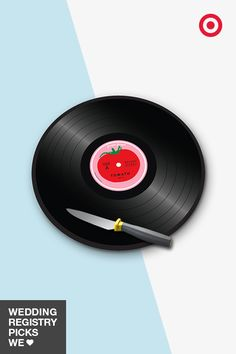 Scratch a record with this tomato vinyl cutting board from Joseph Joseph. It's a fun way to bring your music-loving style to the kitchen, and is a distinct piece for your wedding registry.