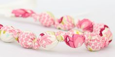 Teething Necklace - Pink Lilly Belle - The Vintage Honey Shop