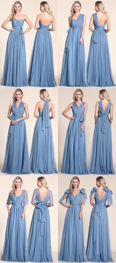 A line convertible bridesmaid dress.                                                                                                                                                                                 More