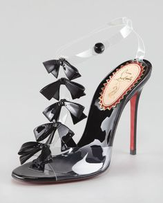 1877cea1902 Christian Louboutin Bow Bow Translucent Patent Leather Sandals T Strap  Sandals