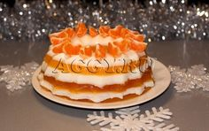Мандариновый торт-желе
