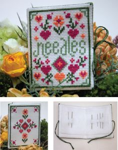 How-to make a cross stitch needle book or needle case