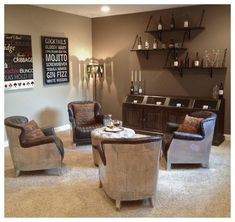 Bar Lounge, Lounge Chairs, Room Chairs, Pool Table Room, Dining Room, Parlor Room, Wine Tasting Room, Cigar Room, Flex Room
