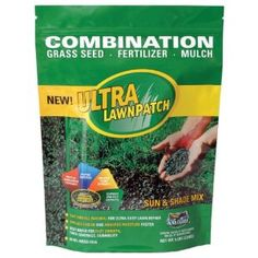 Amturf Ultra LawnPatch combines premium seed, natural fertilizer, and mulch in a process that brings fast growth, thick coverage, and durability.    All-natural, biodegradable product spreads easier and absorbs moisture faster than any other combination product.
