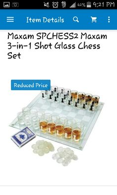 Drinking game: chess